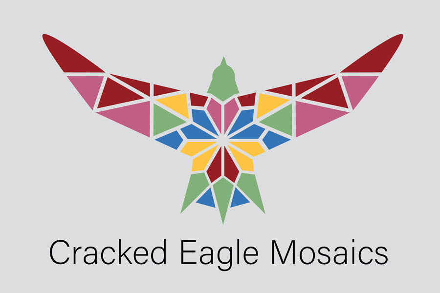 Cracked Eagle Mosaics Logo