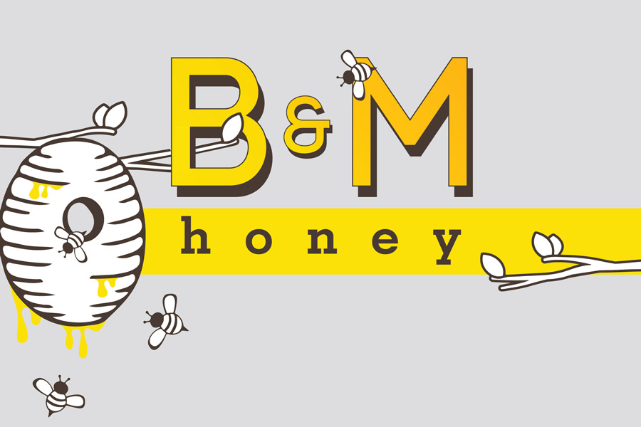 Bear and Moose Honey Logo