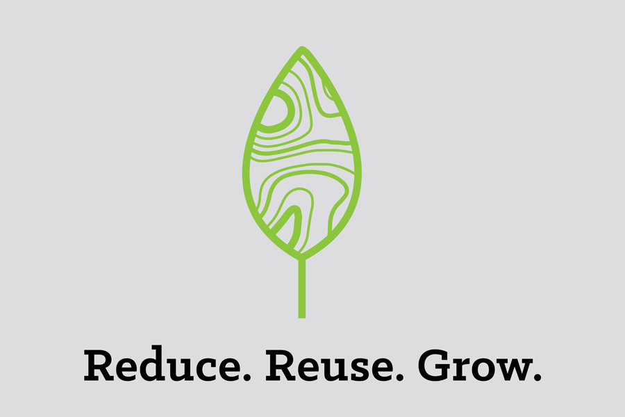 Reduce. Reuse. Grow. Logo